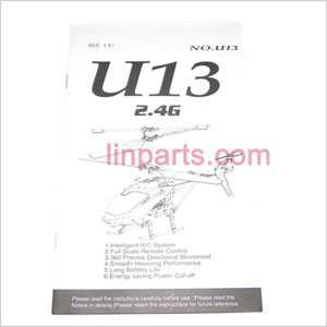 UDI RC U13 U13A Spare Parts: English manual book