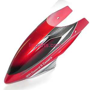 UDI RC Helicopter U16 Spare Parts: Head cover\Canopy(Red)