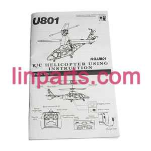 UDI RC Helicopter U801 U801A Spare Parts: English manual book