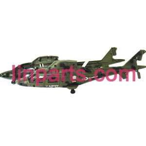 UDI RC Helicopter U801 U801A Spare Parts: body(Army green)