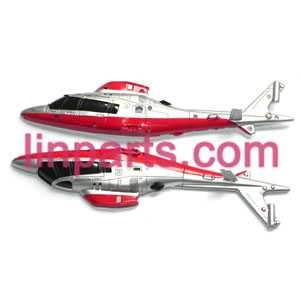 UDI RC Helicopter U801 U801A Spare Parts: body(Red)
