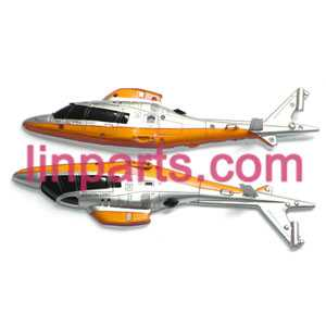 UDI RC Helicopter U801 U801A Spare Parts: body(Yellow/White)