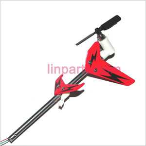 UDI RC U802 Spare Parts: Whole Tail Unit Module(Red)