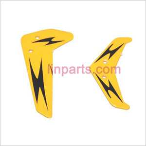UDI RC U802 Spare Parts: Tail decorative set (Yellow)
