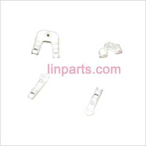 UDI RC U802 Spare Parts: Fixed set of the tail decorative set and support bar (White)
