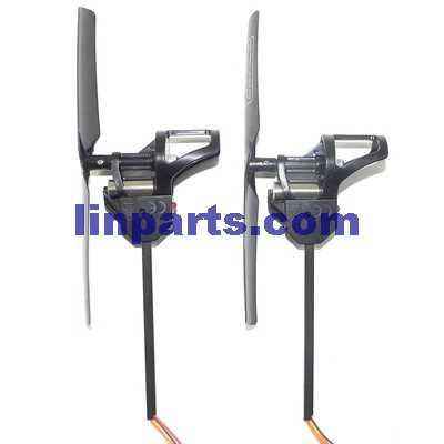 UDI U819A RC QuadCopter Spare Parts: 2pcs Side set(1pcs Forward + 1pcs Reverse)[black Blades](short shaft)
