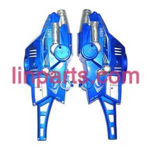 UDI RC Helicopter U821 Spare Parts: outer cover(Blue)