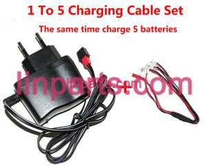 UDI RC QuadCopter Helicopter U830 Spare Parts: 1 to 5 wall charger and charging plug lines