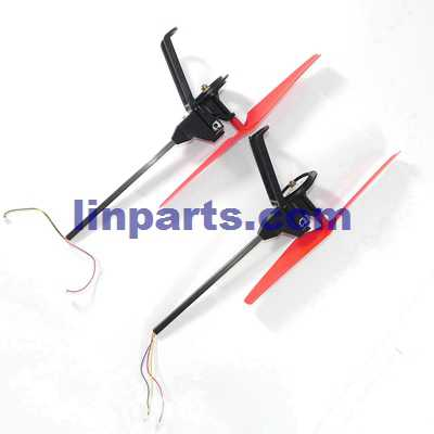 WLtoys WL Q212 Q212G Q212K Q212GN Q212KN RC Quadcopter Spare Parts: Side bar & motor set (1x Forward set + 1x Reverse set)[Red]