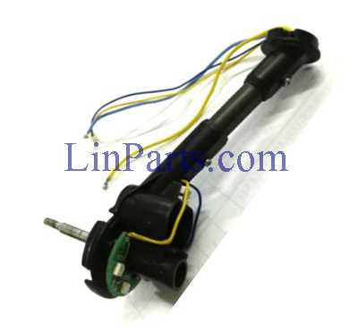 Wltoys Q353 RC Quadcopter Spare Parts: Front motor base [blue yellow line] right component