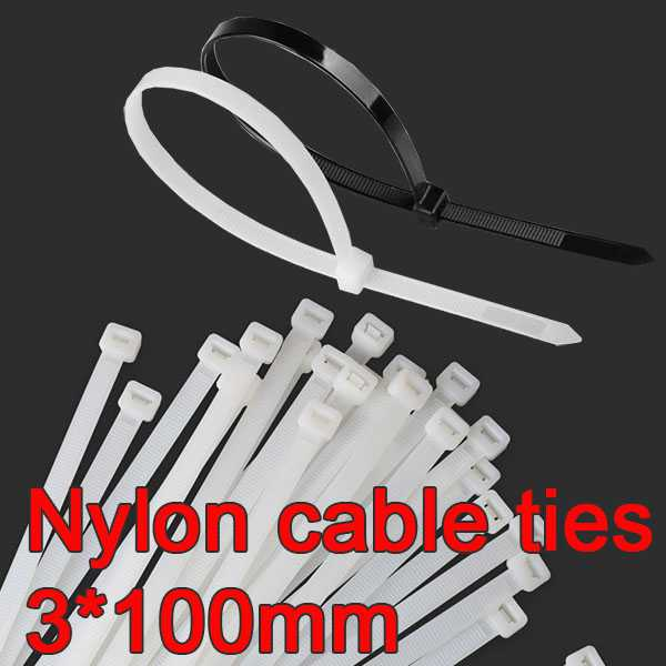 Nylon cable ties 3*100mm [50pcs]