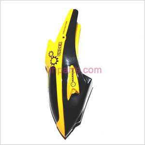 WLtoys WL V388 Spare Parts: Head cover\Canopy(Yellow)