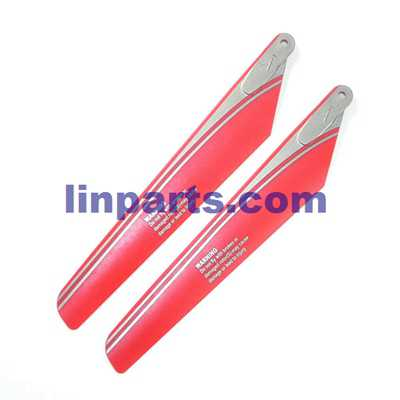 WLtoys V915 2.4G 4CH Scale Lama RC Helicopter RTF Spare Parts: Main blades propellers (Red)