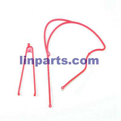 JJRC V915 RC Helicopter Spare Parts: Tail connect parts [Red]