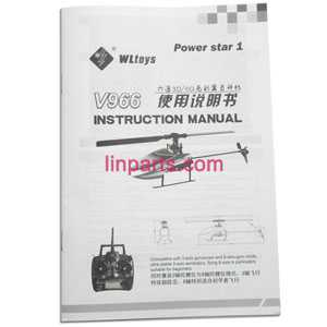 WLtoys WL V966 Helicopter Spare Parts: English manual book