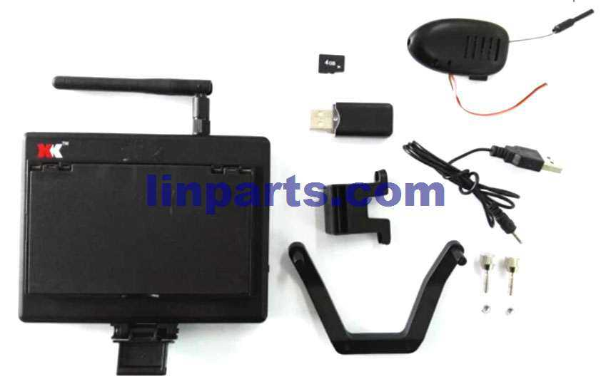 XK X251 RC Quadcopter Spare Parts: 5.8G FPV 720P 30FPS Camera with Monitor Real Time Transmission