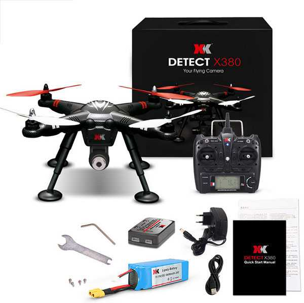 XK DETECT X380-A GPS 2.4G 1080P HD RC Quadcopter RTF【1080P HD Camera with Gyro】