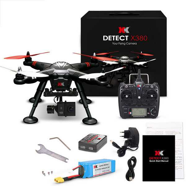 XK DETECT X380-C GPS 2.4G 1080P HD RC Quadcopter RTF【GOPRO Brushless Gimbal and 1080P HD Camera】