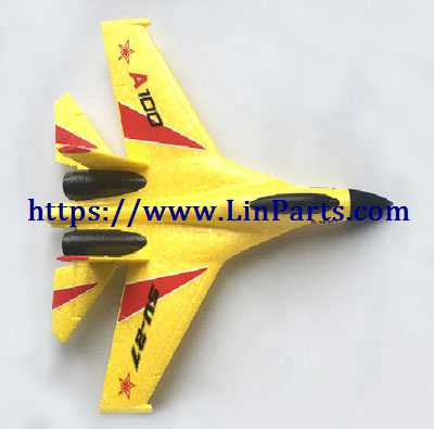 XK A100 RC Airplane Spare Parts: Body group[yellow]