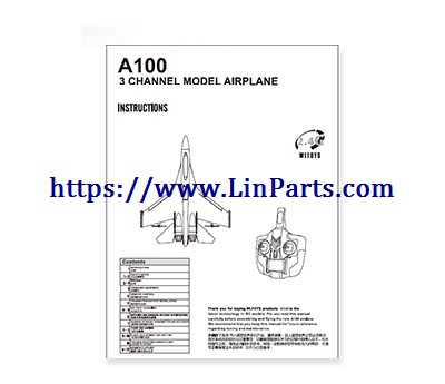 XK A100 RC Airplane Spare Parts: English manual