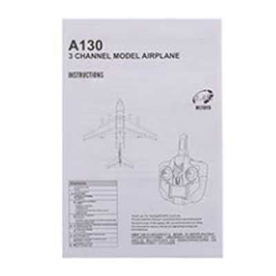 XK A130 RC Airplane Spare Parts: English manual