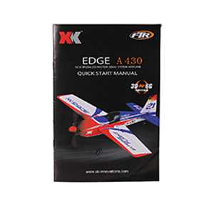 XK A430 RC Airplane Spare Parts: English manual book