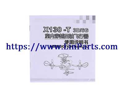 XK X130-T RC Quadcopter Spare Parts: English manual