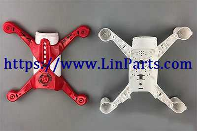 XK X150 RC Quadcopter Spare Parts: Upper cover + Lower cover[Red]