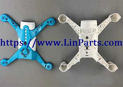 XK X150 RC Quadcopter Spare Parts: Upper cover + Lower cover[Blue]
